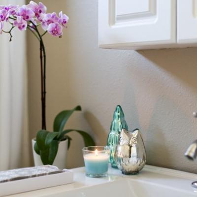 เทียนหอมในห้องน้ำ